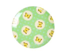 Bordje Melamine Happy Butterflies Green (16 cm.) - Ginger