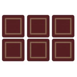 Onderzetters (6) - Pimpernel Classic Burgundy