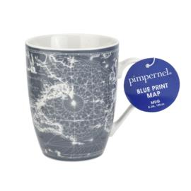 Mok Blue Print (0,34 l.) - Pimpernel