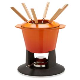 Gietijzeren Fondueset Oranjerood (1,6 l.) - Le Creuset