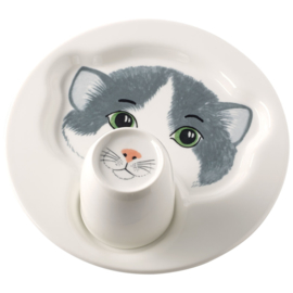 2-delige Kinderset Kat - Villeroy & Boch Animal Friends