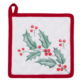 Pannenlap Holly Christmas - Clayre & Eef