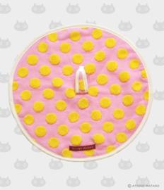 Ronde Handdoek Atarashii Toshi Dots Pink (32 cm.) - Atsuko Matano