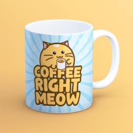 Mok 'Coffee Right Meow' - Fuzzballs