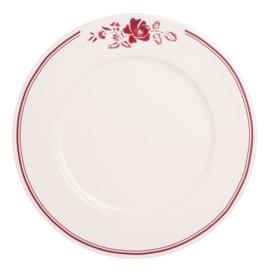 Ontbijtbord (23 cm.) Rose Rood - Dépôt d'Argonne