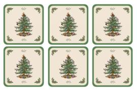 Onderzetters (6) - Pimpernel Christmas Tree