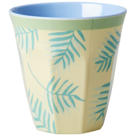 Melamine Beker Palm Leaves Medium - Rice