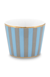 Eierdopje Stripes Blue Khaki - Pip Studio Love Birds