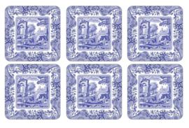 Onderzetters (6) - Pimpernel Blue Italian