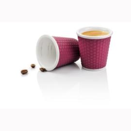 Set 2 Espressobekertjes Honeycomb Aubergine (10 cl.) - Les Artistes
