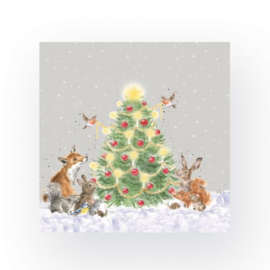 Papieren Servetten 'Oh Christmas Tree' - Wrendale Designs
