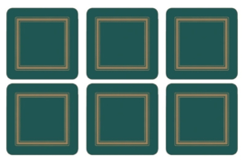 Onderzetters (6) - Pimpernel Classic Emerald