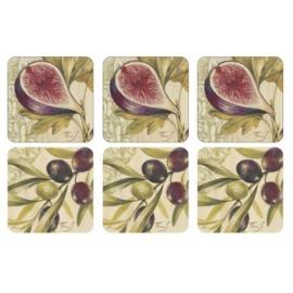 Onderzetters (6) - Pimpernel Olives & Figs