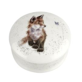 Dekseldoosje Fox (8,4 cm.) - Wrendale Designs