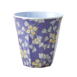 Melamine Beker Hanging Flowers Medium - Rice