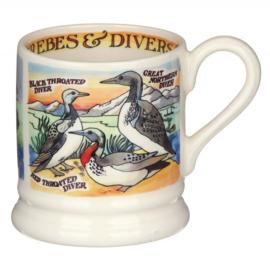 1/2 Pt Mug Divers & Grebes - Emma Bridgewater