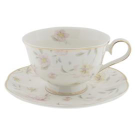 Kop & Schotel Tableware Flowers (0,2 l.) - Clayre & Eef