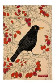 Katoenen Theedoek Blackbird - Ulster Weavers