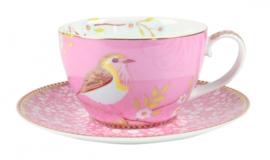 Kop & Schotel Pink (280 ml.) - Pip Studio Early Bird
