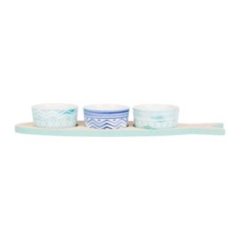 Serveerset Oceani Blue (38 cm.) - Sema Design