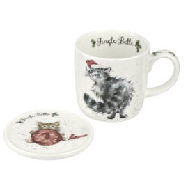 Mok & Onderzetter Jingle Belle - Wrendale Designs