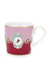 Mok Medallion Red Pink (150 ml.) - Pip Studio Love Birds