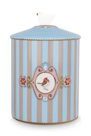 Voorraadpot Medallion Blue Khaki (1,3 l.) - Pip Studio Love Birds