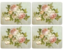 4 Placemats (40,1 cm.) - Pimpernel Antique Roses