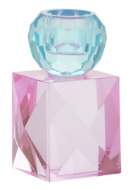 Kristallen Kandelaar Rose / Blue - Miss Étoile