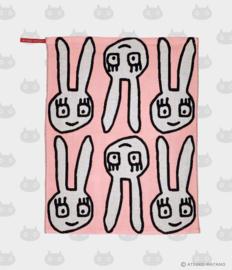Hand- / Theedoek / Placemat Yuru Usa Pink (45 cm.) - Atsuko Matano
