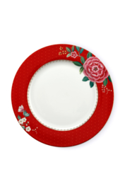 Dinerbord Blushing Birds Red (26,5 cm.) - Pip Studio