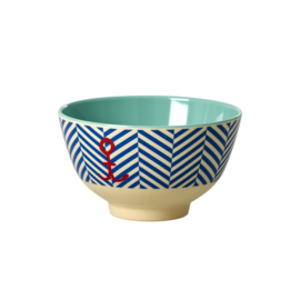 Melamine Schaal Sailor Stripe & Anchor (11,3 cm.) - Rice