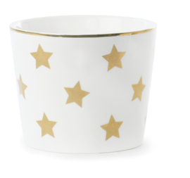 Ceramic Pot Gold Stars - Miss Étoile