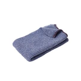 Gebreide Hand- of Theedoek Blue/White/Purple (60 cm.) - Hübsch