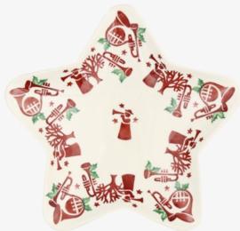 Serveerschaaltje Joy Trumpets (21 cm.) - Emma Bridgewater Christmas Joy