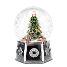 Sneeuwbol Christmas Tree met Muziek (18 cm.) - Spode Christmas Tree