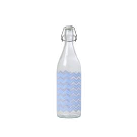 Glazen Fles Chevron (1 l.) - Rice