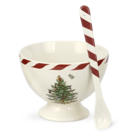 Sorbetschaal (12 cm.) met Lepel - Spode Christmas Tree