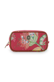 Cosmetica Tas Small Jambo Flower Red (20 cm.) - Pip Studio