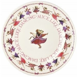 Melamine Dinerbord Mice Like Dancing - Emma Bridgewater