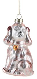 Kerstdecoratie Hond (7,6 cm.) - Miss Étoile