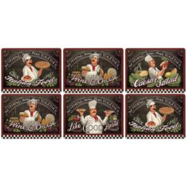6 Placemats (30,5 cm.) - Pimpernel Chef's Specials