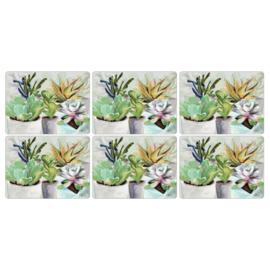 6 Placemats (30,5 cm.) - Pimpernel Succulents