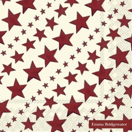 Servetten (25 cm.) Red Starry Skies - Emma Bridgewater