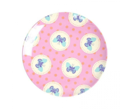 Bordje Melamine Happy Butterflies Pink (16 cm.) - Ginger