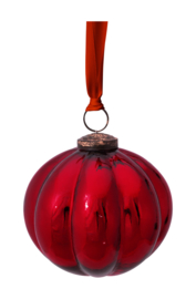 Glazen Ornament Rood (10 cm.) - Pip Studio Winter Wonderland