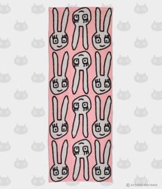 Hand- / Theedoek Yuru Usa Pink (90 cm.) - Atsuko Matano