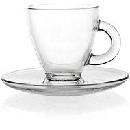 Glazen Espressokop & Schotel (85 ml) - Clayre & Eef