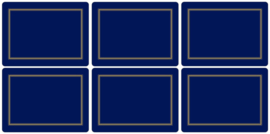 6 Placemats (30,5 cm.) - Pimpernel Classic Midnight