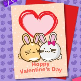 Kaart 'Hoppy Valentine's Day' - Fuzzballs
